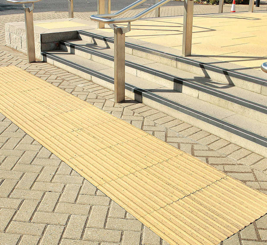 Corduroy tactile Paving