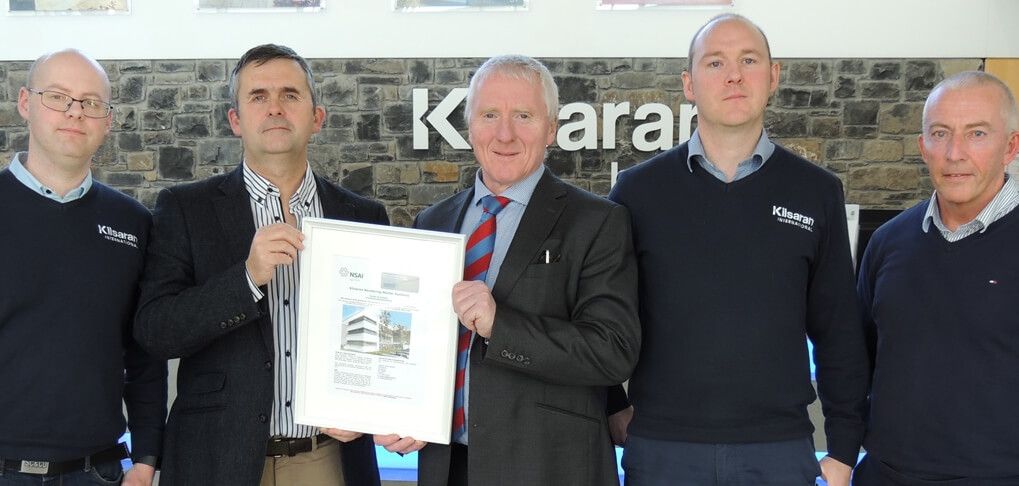 Kilsaran attain NSAI Agrement Accreditation