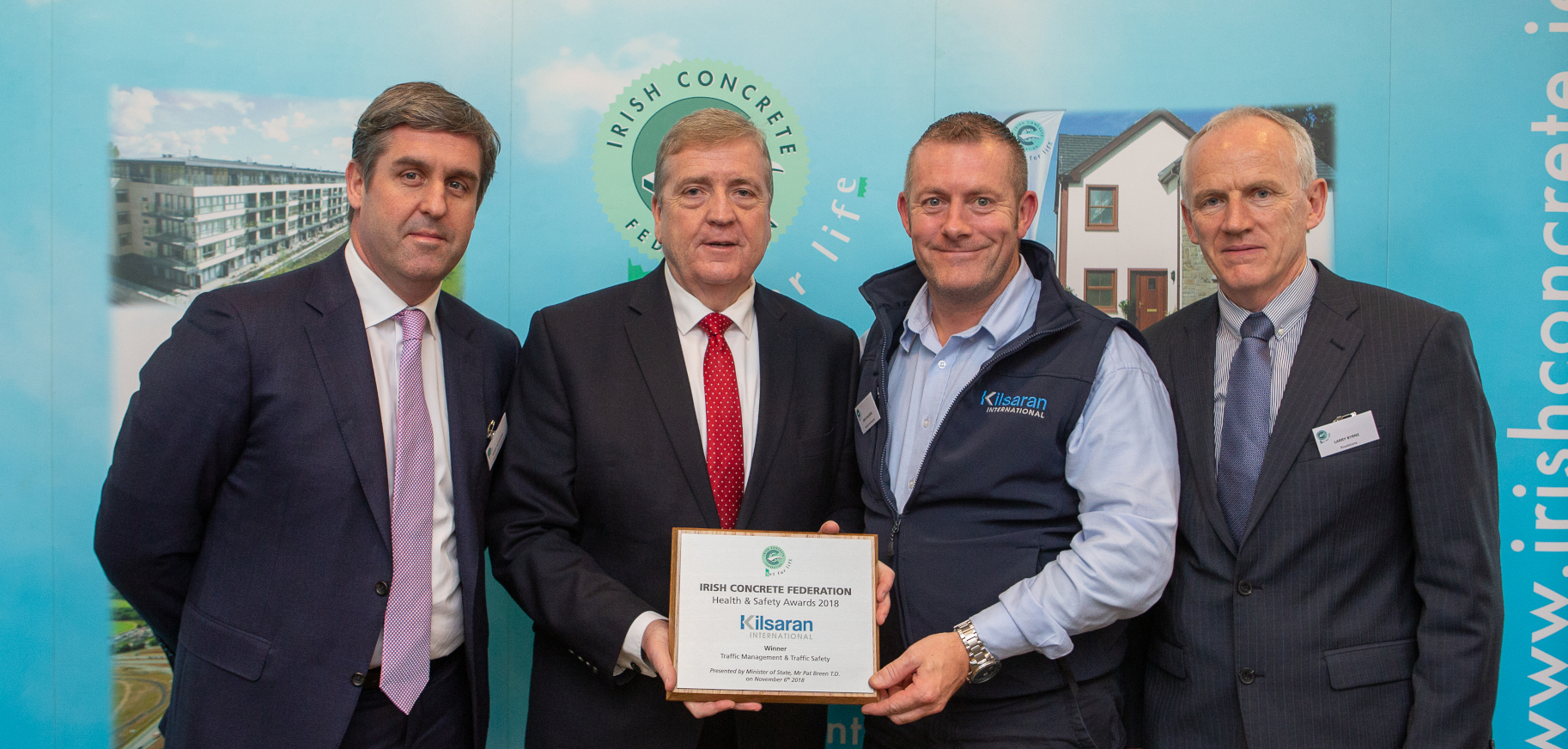Kilsaran Wins 2 Awards at Irish Concrete Federation Health & Safety Awards 2018