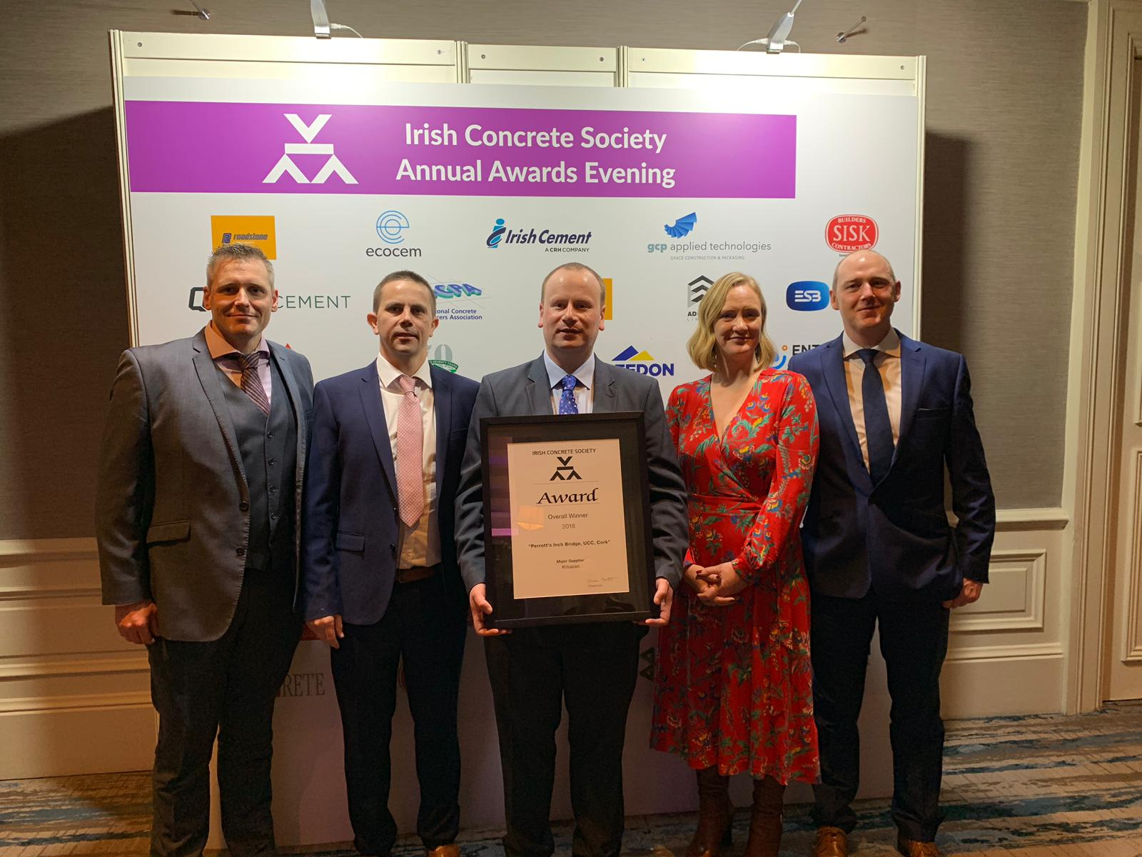Kilsaran win Irish Concrete Society Award for Perrott's Inch Bridge