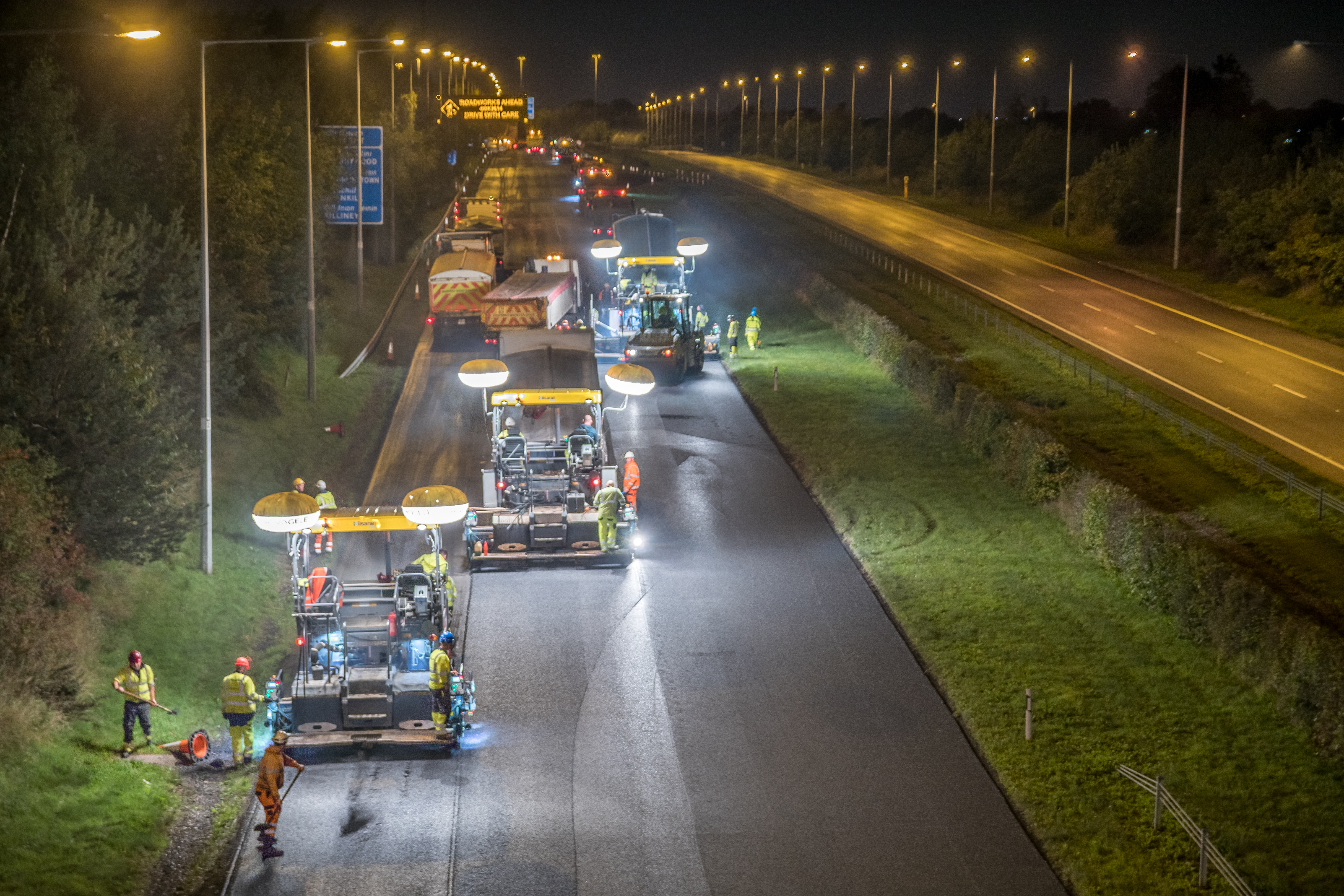 M50/ M11 Junction Pavement Scheme - Road Surfacing and Contracting