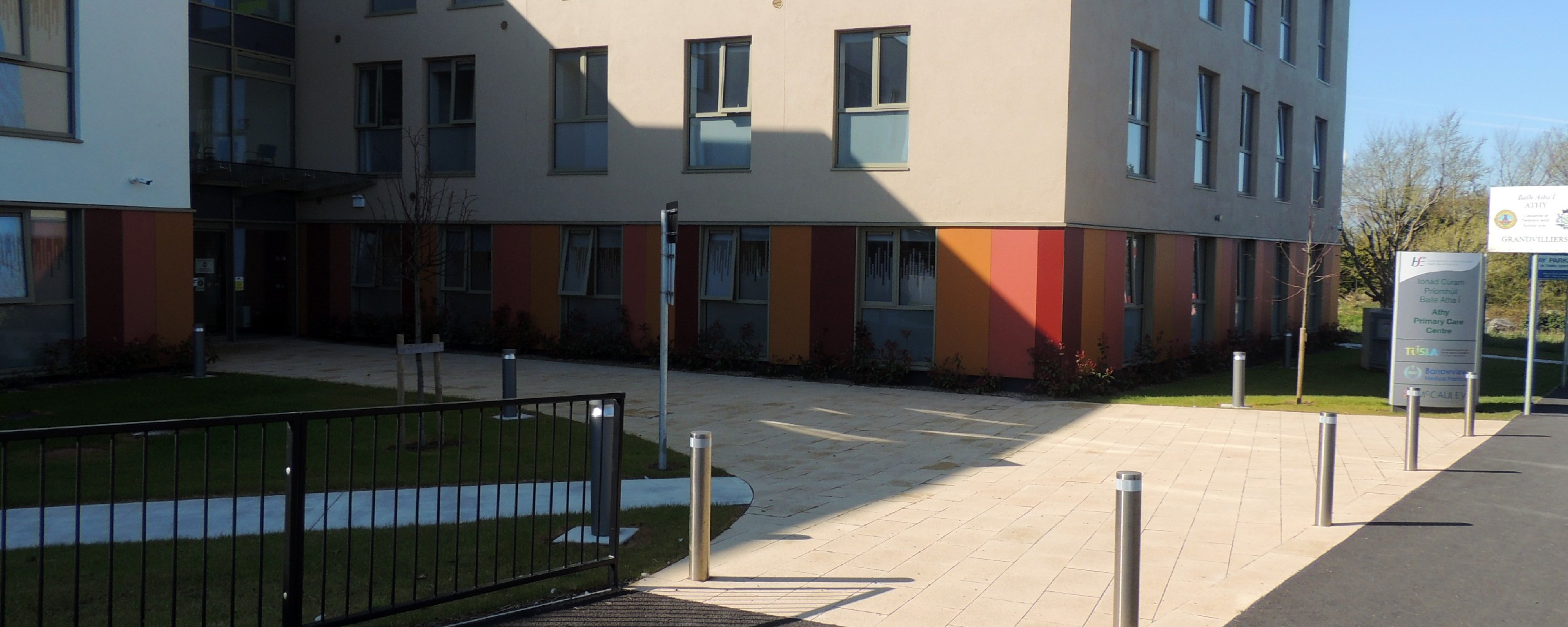 Athy Primary Care - Paving and Walling
